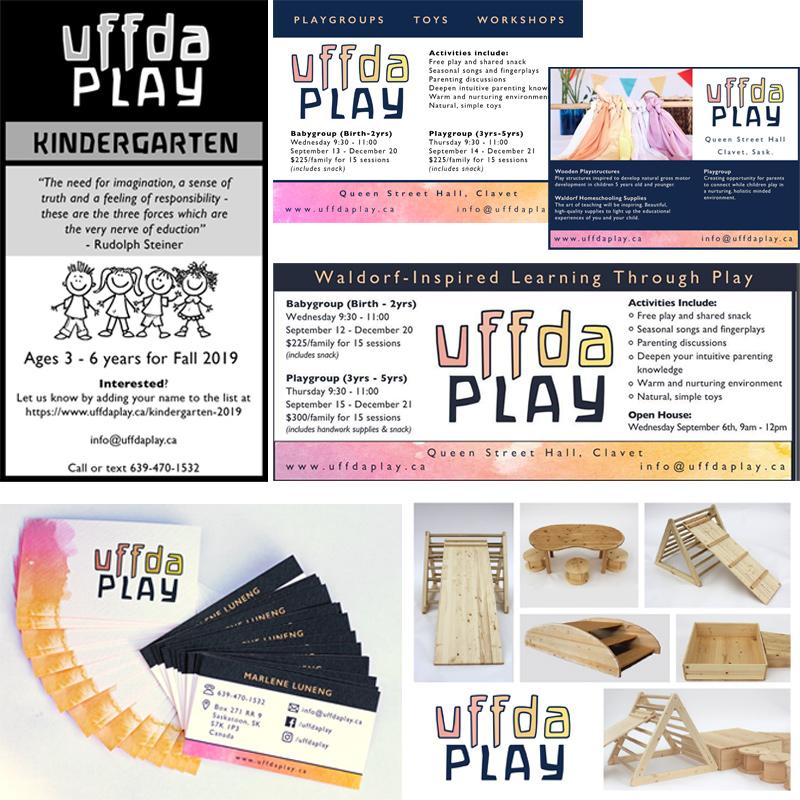 Uffda Play printed materials